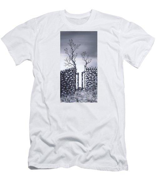 Bird Tree Men's T-Shirt (Slim Fit) by Kenneth Clarke