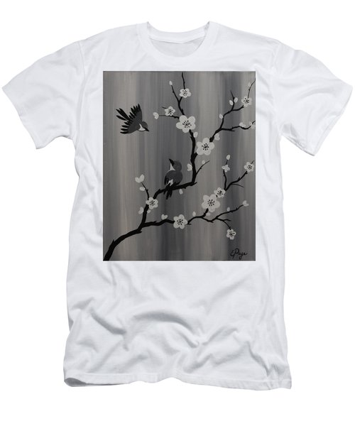 Birds And Blossoms Men's T-Shirt (Athletic Fit)
