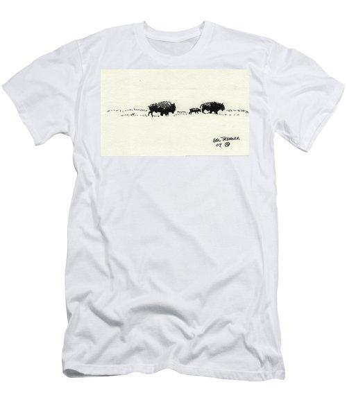 Bison Family Men's T-Shirt (Athletic Fit)