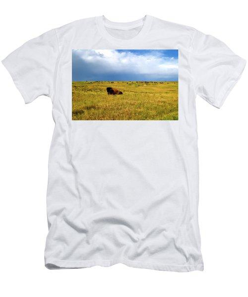Bison In The Badlands Men's T-Shirt (Athletic Fit)