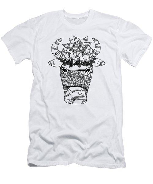 Bison Men's T-Shirt (Slim Fit) by Sarah Rosedahl