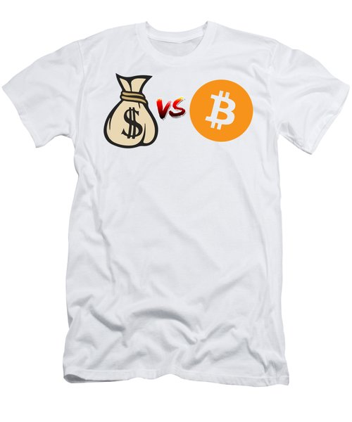 Bitcoin Vs Fiat Men's T-Shirt (Athletic Fit)