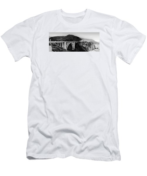Bixby Bridge - Big Sur - California Men's T-Shirt (Athletic Fit)