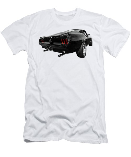 Black 1967 Mustang Men's T-Shirt (Athletic Fit)