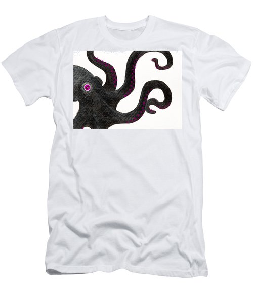 Black And Purple Octopus Men's T-Shirt (Athletic Fit)