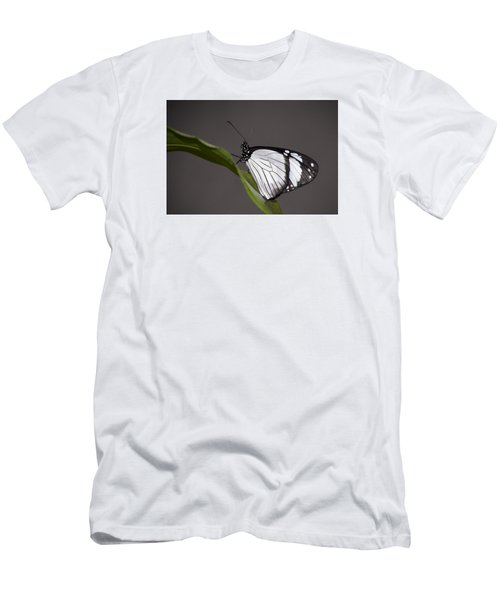 Black And White Butterfly Men's T-Shirt (Slim Fit) by Penny Lisowski