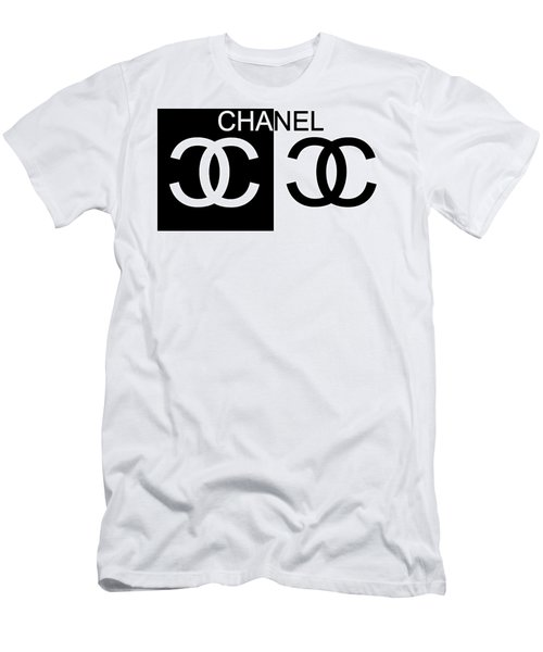 Black And White Chanel 2 Men's T-Shirt (Athletic Fit)
