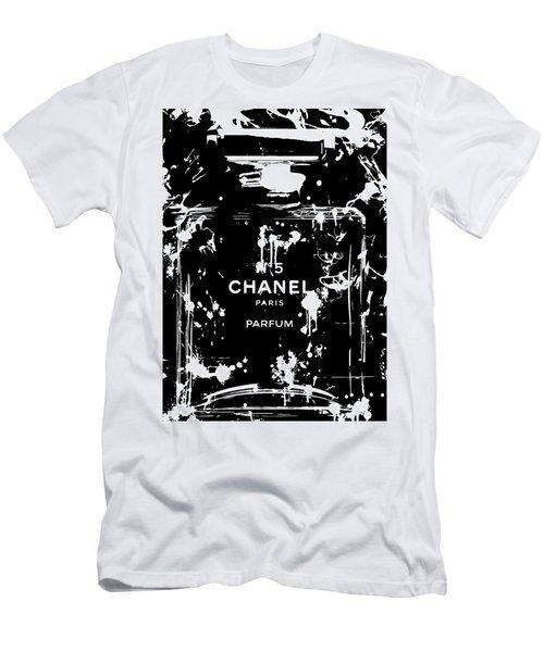Black And White Chanel Splatter Men's T-Shirt (Athletic Fit)