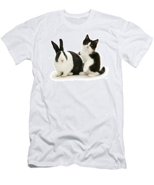 Black And White Double Act Men's T-Shirt (Athletic Fit)
