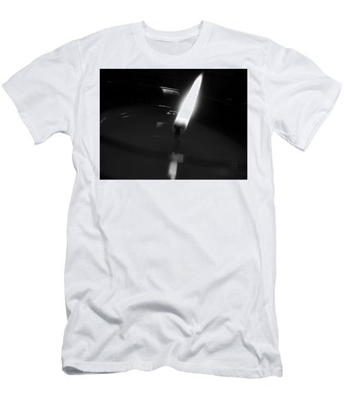 Men's T-Shirt (Athletic Fit) featuring the photograph Black And White Flame by Robert Knight