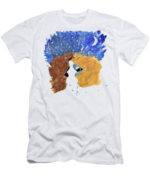 Romantic Kissing With Stars In Their Hair Men's T-Shirt (Athletic Fit)