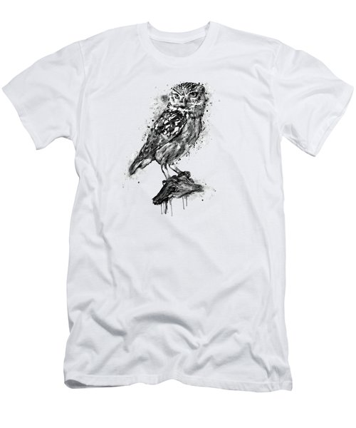 Black And White Owl Men's T-Shirt (Athletic Fit)