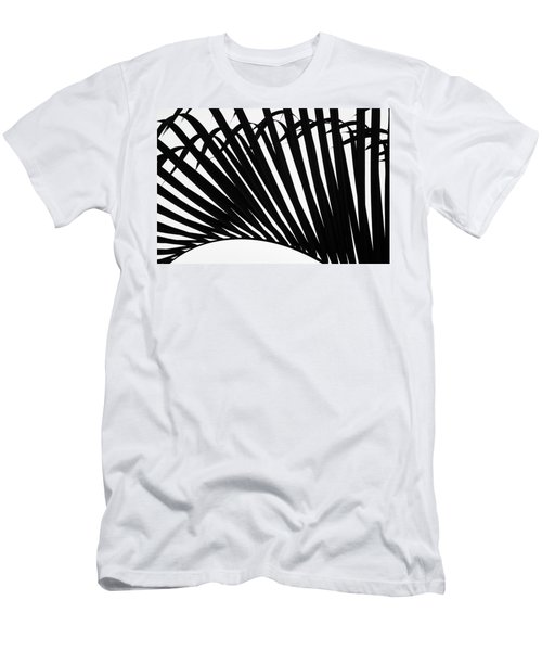 Black And White Palm Branch Men's T-Shirt (Athletic Fit)