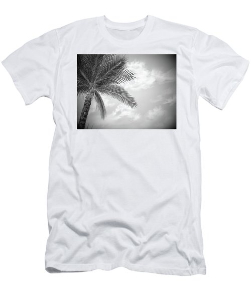 Men's T-Shirt (Athletic Fit) featuring the digital art Black And White Palm by Darren Cannell