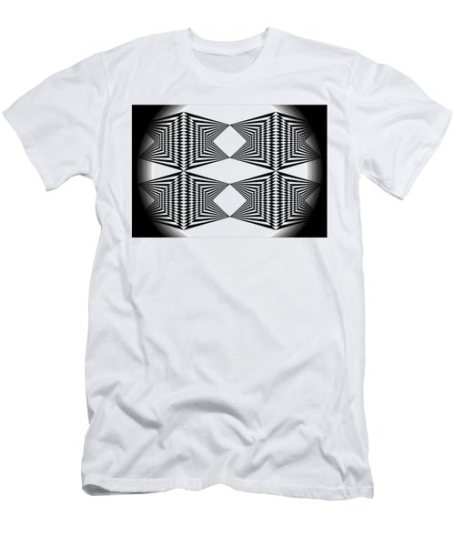 Black And White T-shirt Men's T-Shirt (Slim Fit) by Isam Awad