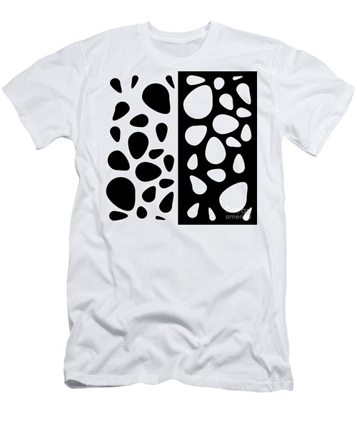 Black And White Teardrops Men's T-Shirt (Athletic Fit)