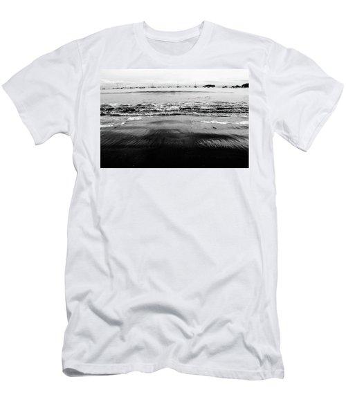 Black Beach  Men's T-Shirt (Athletic Fit)