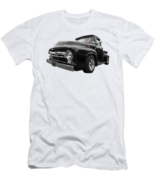 Men's T-Shirt (Slim Fit) featuring the photograph Black Beauty - 1956 Ford F100 by Gill Billington