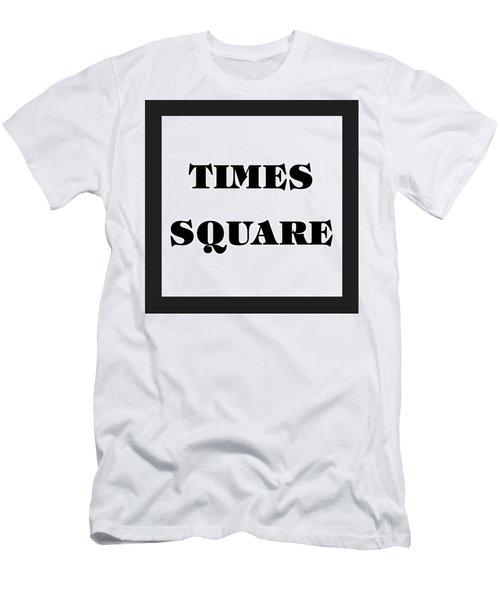 Black Border Times Square Men's T-Shirt (Athletic Fit)