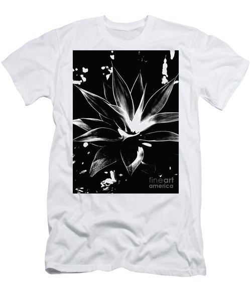 Black Cactus  Men's T-Shirt (Slim Fit) by Rebecca Harman