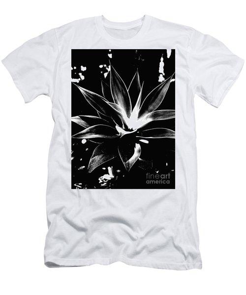 Black Cactus  Men's T-Shirt (Athletic Fit)