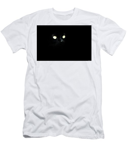 Black Cat Men's T-Shirt (Slim Fit) by Ryan Wyckoff