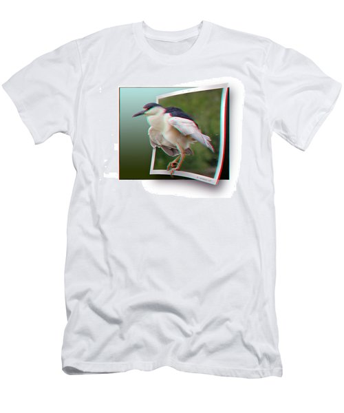 Black Crowned Night Heron - Use Red-cyan 3d Glasses Men's T-Shirt (Athletic Fit)