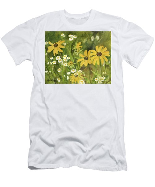 Black-eyed Susans In A Field Men's T-Shirt (Athletic Fit)
