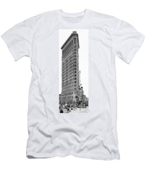Black Flatiron Building II Men's T-Shirt (Slim Fit) by Chuck Kuhn