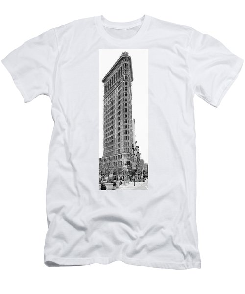 Black Flatiron Building II Men's T-Shirt (Athletic Fit)