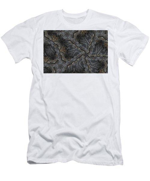 Black Granite Kaleido #1 Men's T-Shirt (Slim Fit) by Peter J Sucy