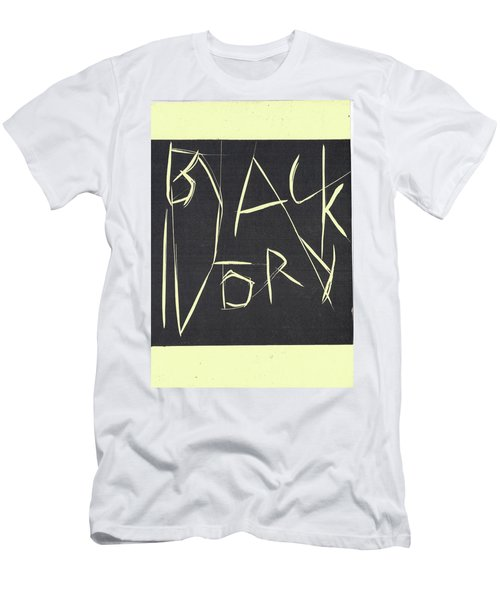 Black Ivory Title Page Men's T-Shirt (Athletic Fit)