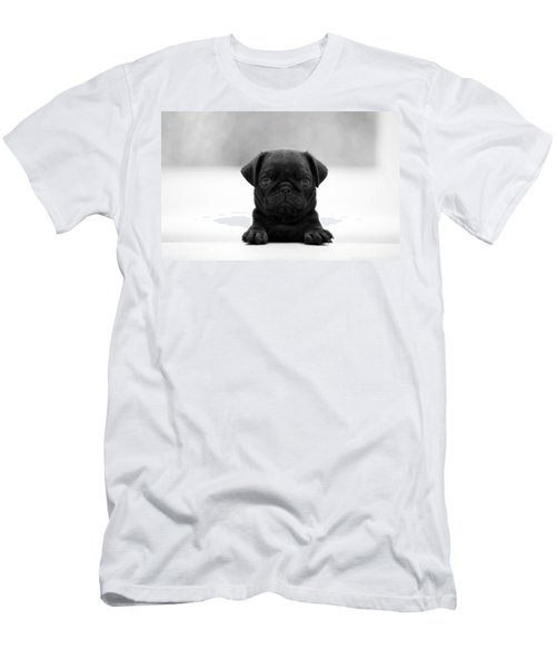 Black Pug Men's T-Shirt (Athletic Fit)