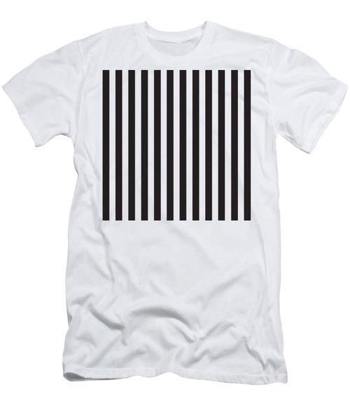 Black Stripes Men's T-Shirt (Athletic Fit)