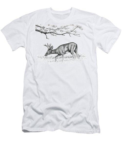 Black Tail In Velvet Men's T-Shirt (Athletic Fit)