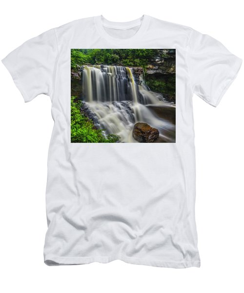 Black Water Falls Men's T-Shirt (Athletic Fit)