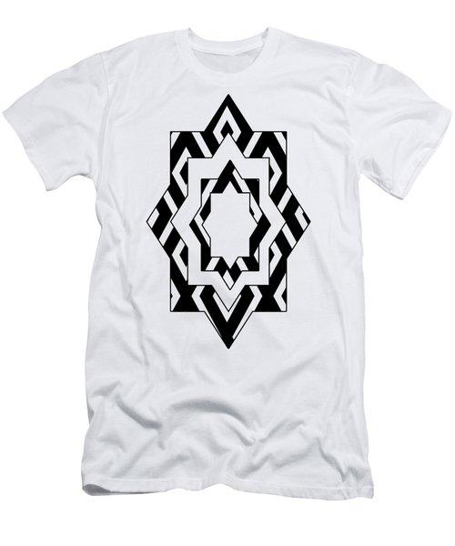 Black White Pattern Art Men's T-Shirt (Athletic Fit)