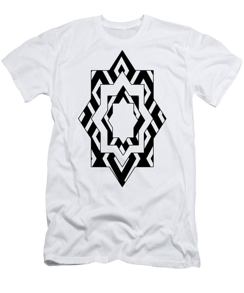 Black White Pattern Art Men's T-Shirt (Athletic Fit)