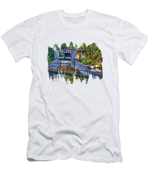 Men's T-Shirt (Slim Fit) featuring the photograph Blakes Pond House by Thom Zehrfeld