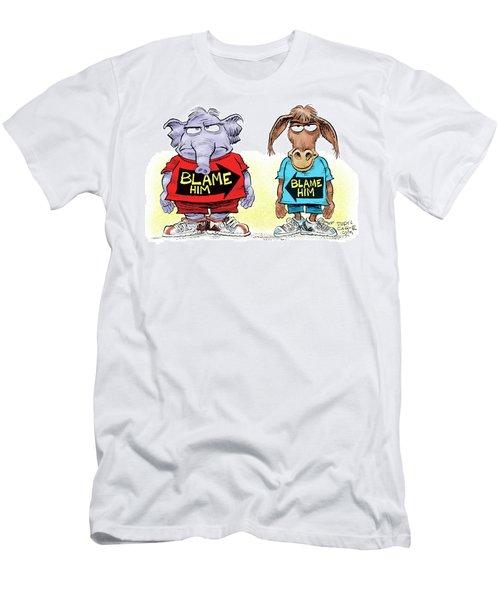 Blame Him Men's T-Shirt (Athletic Fit)