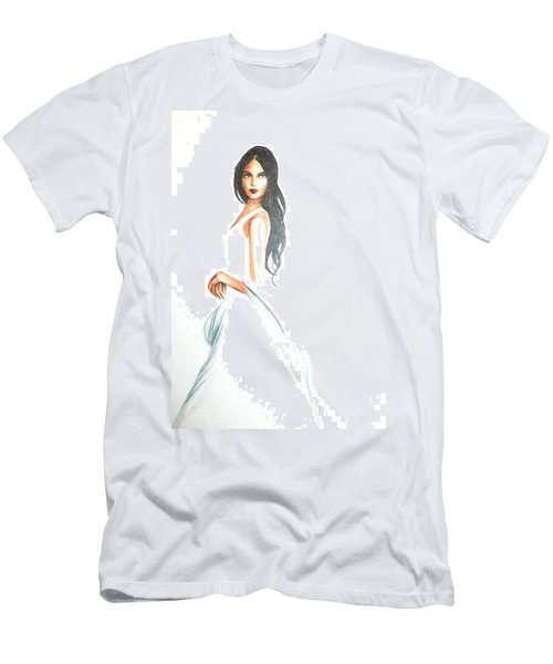 Men's T-Shirt (Athletic Fit) featuring the drawing Blanca by MB Dallocchio