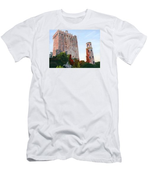 Men's T-Shirt (Slim Fit) featuring the painting Blarney Castle by Lynne Reichhart
