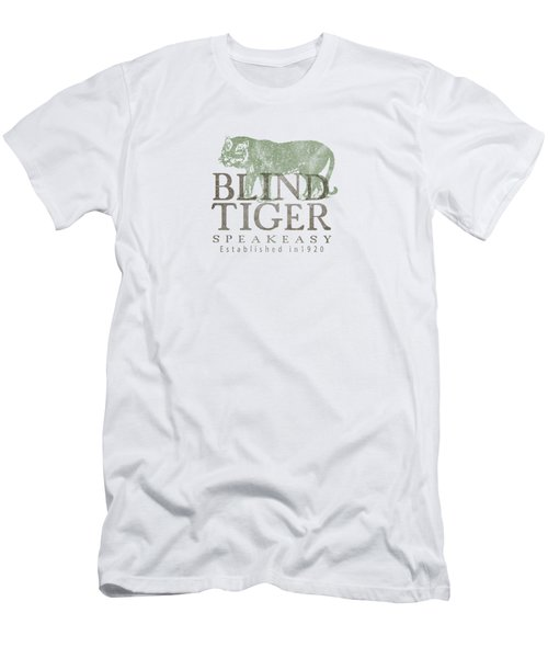 Blind Tiger Speakeasy Tee Men's T-Shirt (Athletic Fit)