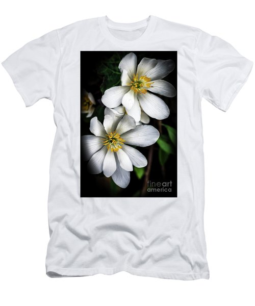 Men's T-Shirt (Slim Fit) featuring the photograph Bloodroot In Bloom by Thomas R Fletcher