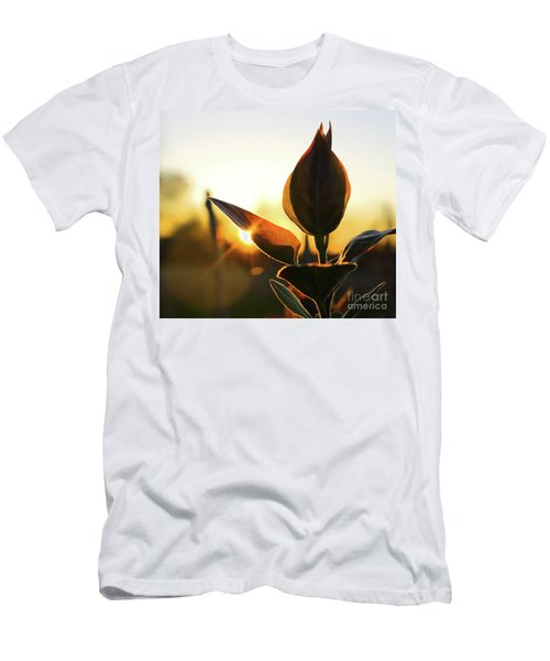 Blooming Lilac At Sunset Men's T-Shirt (Athletic Fit)