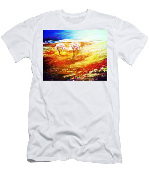 Blossom Dawn Men's T-Shirt (Slim Fit) by Winsome Gunning