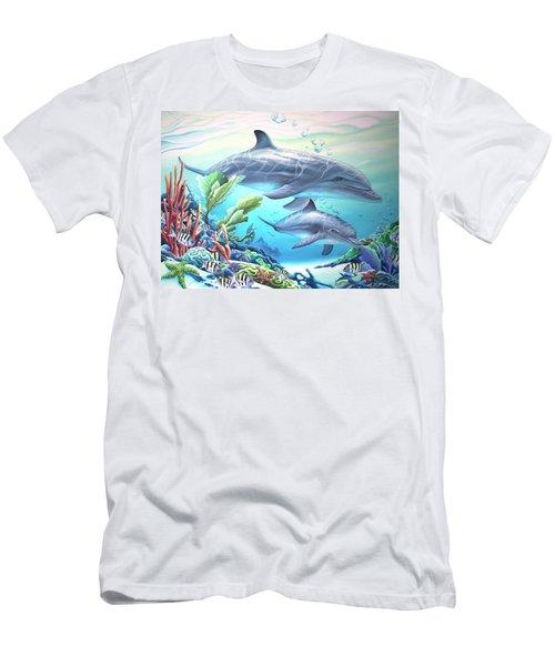 Blowing Bubbles Men's T-Shirt (Slim Fit) by William Love