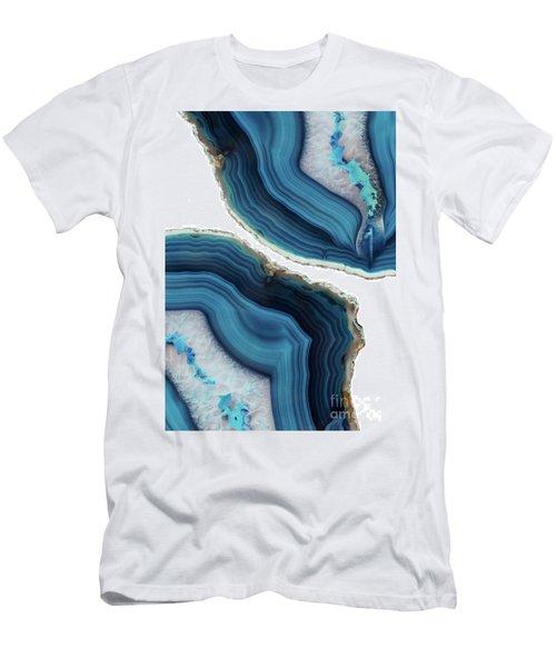 Blue Agate Men's T-Shirt (Athletic Fit)
