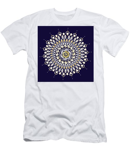 Blue And Gold Lens Mandala Men's T-Shirt (Athletic Fit)