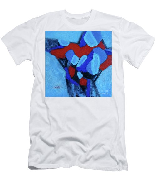 Blue And Red Men's T-Shirt (Athletic Fit)